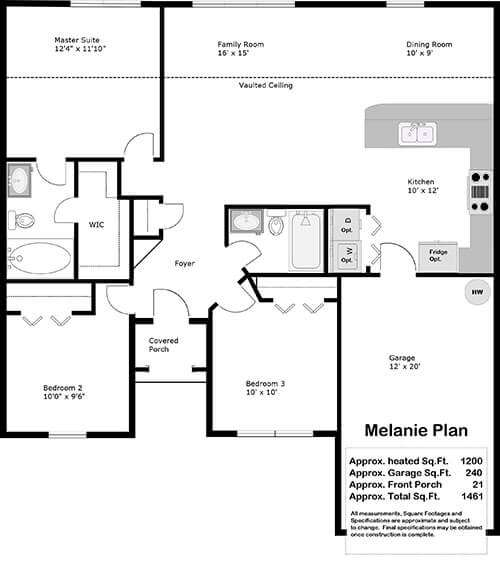 The Melanie Floor Plan