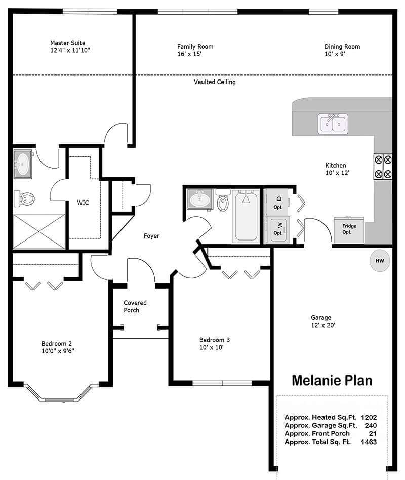 The Melanie Floor Plan2014